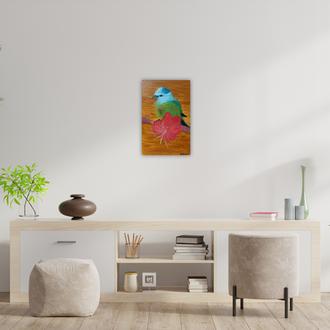 """Картина маслом """"Птичка Счастья"""""""
