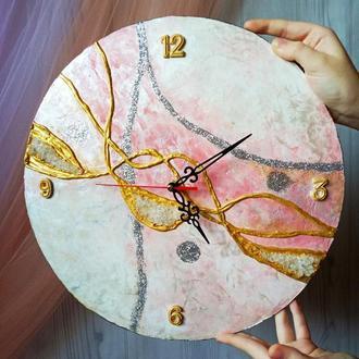 Большие оригинальные часы, абстракция, настенные