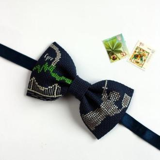 """Вышитая галстук-бабочка """"Kyiv"""""""