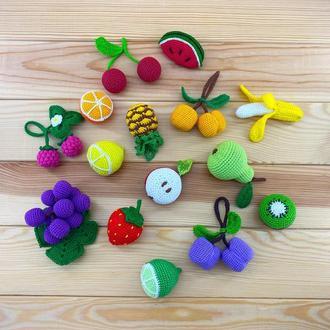 Набор вязаных фруктов и ягод (15 шт)