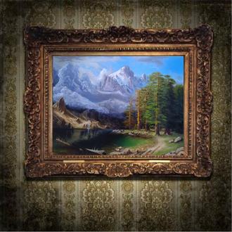 Картина маслом на холсте горный пейзаж