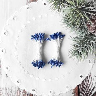 Тычинки глянцевые синие 50 (100)шт