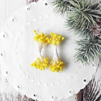 Тычинки-шишечки темно-желтый 50 (100) шт