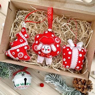 Подарунковий набір новорічних іграшок!
