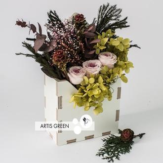Экоконвертик из стабилизированных цветов и растений «Rose&Darkness»
