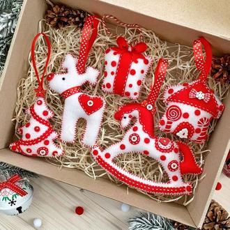Набір ялинкових іграшок /Корпоративний новорічний набір ялинкових прикрас!