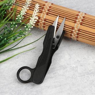 Ножиці для обрізки нитки, 125 мм, колір чорний