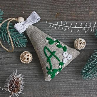 Игрушка на елку Новогодняя елочная игрушка Подвеска на елку Новогодний декор Саше с лавандой эко