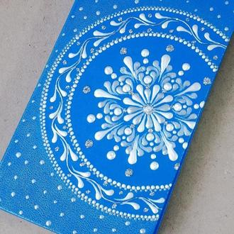 Ежедневник блокнот МАНДАЛА голубой