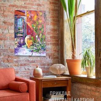 """Современная картина """"Мексиканское настроение.Старый город"""" - декор для винтажного, ретро интерьера"""