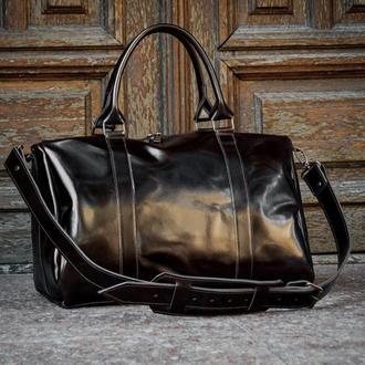 Універсальна шкіряна сумка для подорожей. Дорожня шкіряна сумка