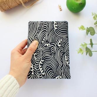 Блокнот в текстильной мягкой обложке с нелинованными, белыми листами