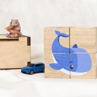 Кубики для детей развивающие, дерево