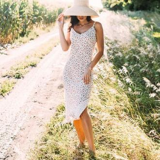 Романтичный сарафан в цветочек миди