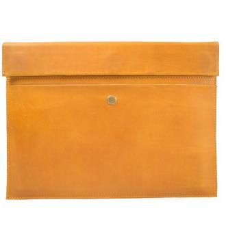 Кожаный чехол для Macbook на скрытом магните. 03005/желтый