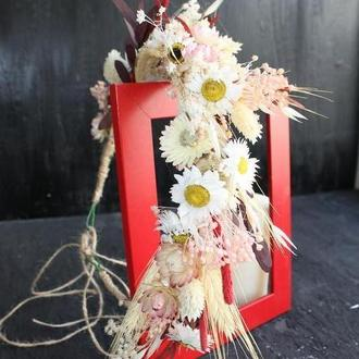 Веночек для невесты из сухоцветов