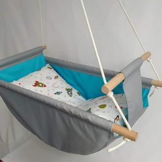 Колиска, колиска, гойдалка, гойдалка-гамак підвісна для дітей від 2-3 міс. до 4-5 років, космос