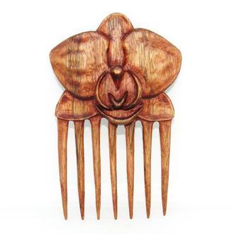 """Заколка-гребень для волос """"Орхидея""""."""