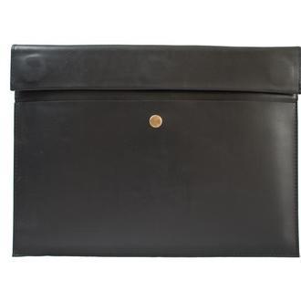 Кожаный чехол для Macbook на скрытом магните. 03005/черный