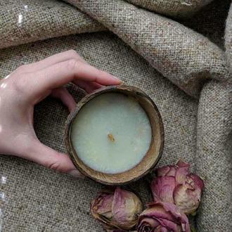 Свічка-бальзам у кокосі