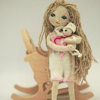 Каркасная кукла Рита с зайчиком