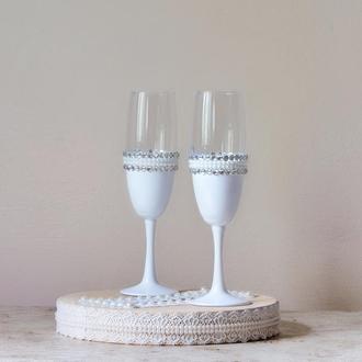 Свадебные бокалы для шампанского арт. 9010