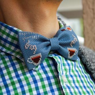 Вышитая галстук-бабочка / Бабочка с вышивкой / Вишитий метелик