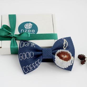 Вышитая галстук-бабочка / Метелик з вишивкою
