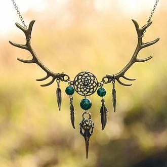 Колье Forest thicket (Лесная чаща) из коллекции украшений Shaman`s dream (в наличии 1 шт.)