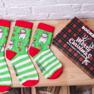 Новогодние семейные носочки