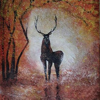 """Картина """"Лесной олень"""""""