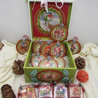 Набор елочных игрушек Гномы