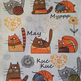 Кухонные полотенца Киевкие коты