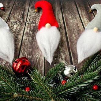 Новорічні магніти, сувенір на Новий рік, гноми, магніт гном