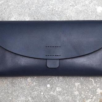 Женский кошелек из натуральной кожи. (WW003 blue)
