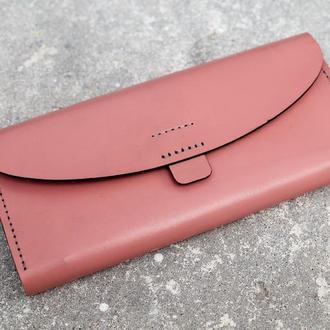 Женский кошелек из натуральной кожи. (WW003 pink)