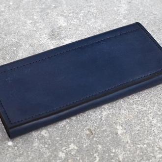 Женский кошелек из натуральной кожи. (WW002 blue)