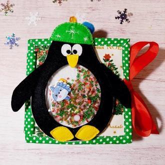Развивающий набор книжка-малышка и планшет ,пингвин-искалка