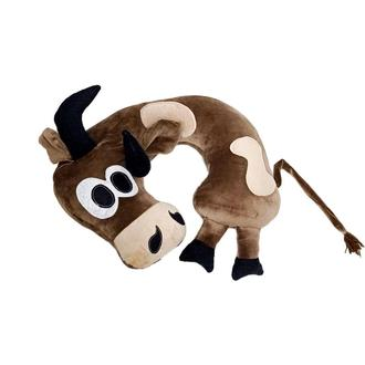 Дорожная  подушка Бешеный Бык коричневый