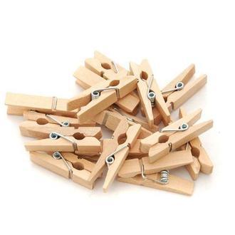 Прищепка Маленькая Деревянная 3х0.8 см для Бизиборда Прищепочка
