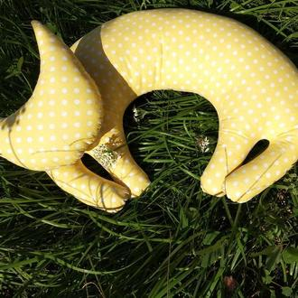 Подушка кошка Подушка для шеи Дорожная подушка Ортопедическая подушка Подушка под голову Подушка для