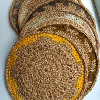 Сервировочные коврики из джута.