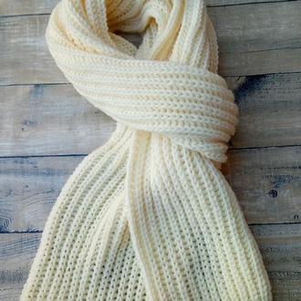 Шарф вязаный длинный. Широкий длинный шарф