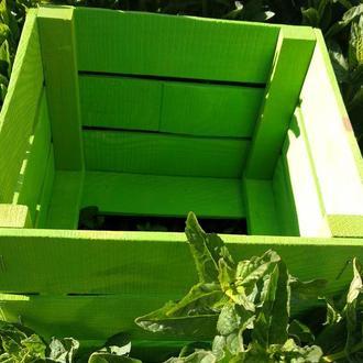 Ящик из дерева с крышкой