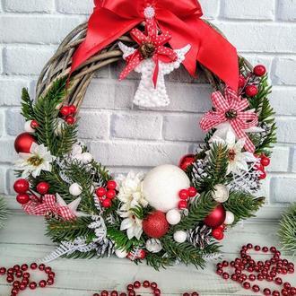 Новогодний венок | Рождественский венок | Венок на дверь