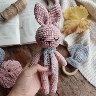 Подарочный набор для новорожденных, набор зайчиков, Ушки-шуршалки