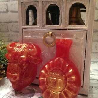 2021 год Быка ,Подарочный набор ароматного, парфюмированого  мыла
