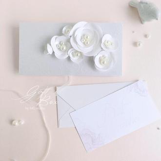 "Gift Box ""Vida"" Цвет 2 (белый) - открытка в коробочке"