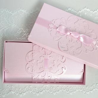 "GiftBox ""Pino"" Цвет 9 (розовый) - открытка в коробочке"