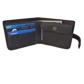 Массивный коричневый кожаный кошелёк х9 (10 цветов)